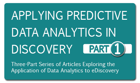 Applying Predictive Data Analytics in Discovery: Part 1