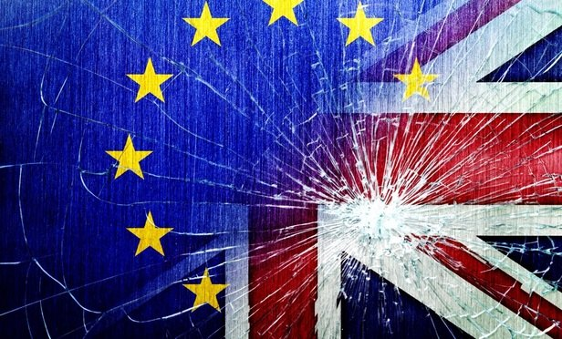 Brexit shattered glass