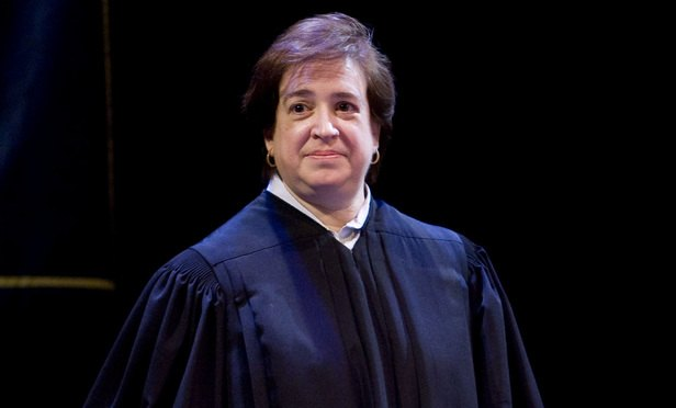 U.S. Supreme Court justice Elena Kagan (Credit: Diego M. Radzinschi/THE NATIONAL LAW JOURNAL)