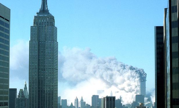 The burning World Trade Center on Sept. 11, 2001 (NYLJ/Rick Kopstein)