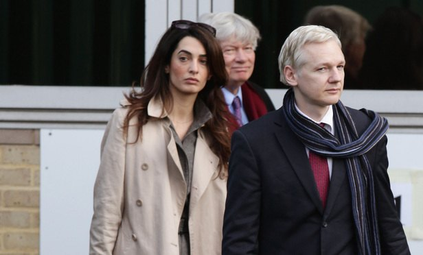 Amal Clooney and Julian Assange