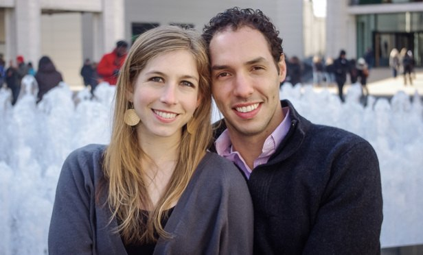 Leah Edelman (left) is an associate in the Washington D.C. office of Fish & Richardson with her husband Martin Strauch of Fried, Frank, Harris, Shriver & Jacobson LLP.