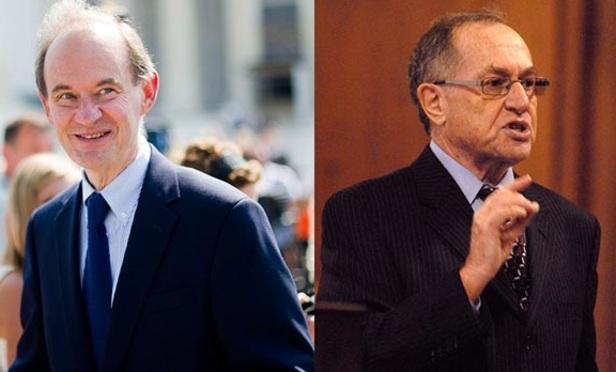 David Boies, left, and Alan Dershowitz.