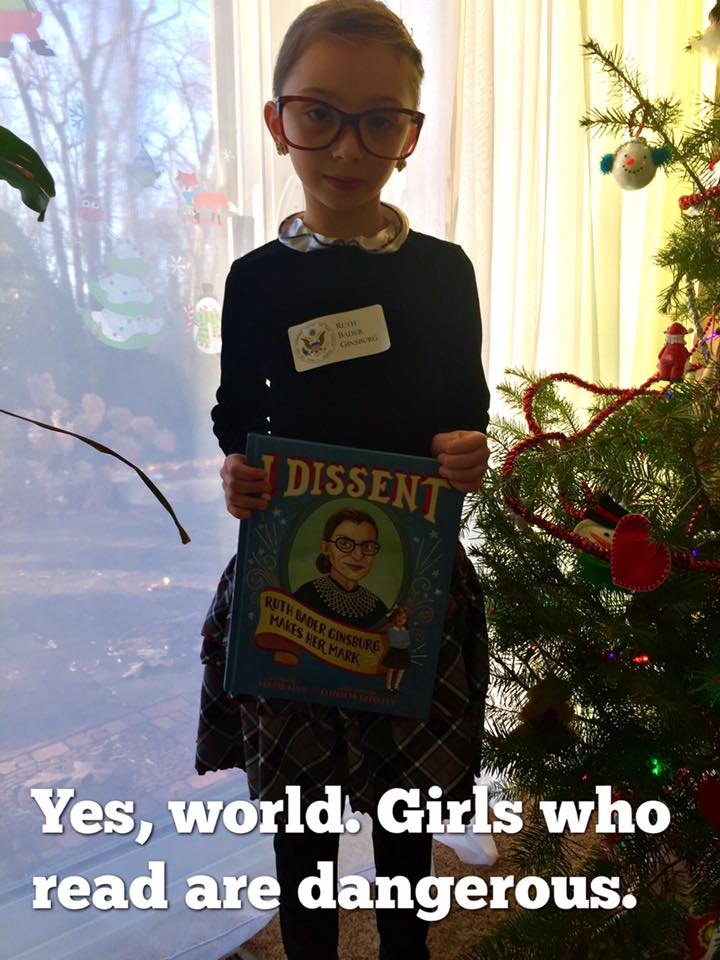 Michele Threefoot in her Justice Ginsburg costume. (Photo: Krista Threefoot/Facebook)