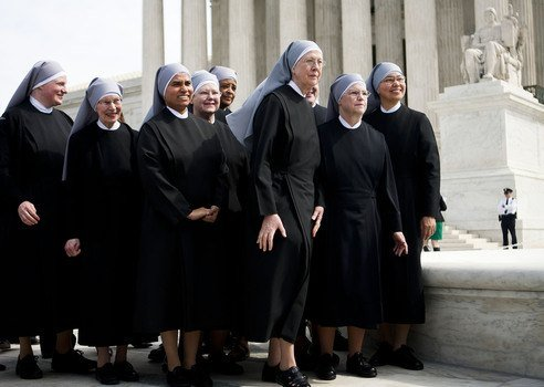 Little Sisters of the Poor are challenging the ACA's birth-control mandate. Photo: Diego M. Radzinschi.