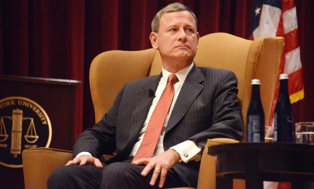 U.S. Supreme Court Chief Justice John Roberts at New York University School of Law. November 20, 2015 (Photo: Rick Kopstein)