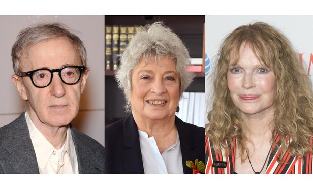 Left to right: Woody Allen, Eleanor Alter and Mia Farrow.