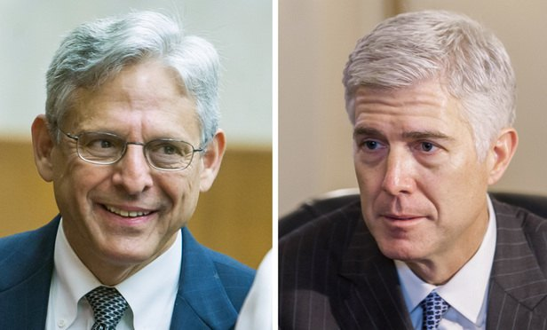 Merrick Garland and Neil Gorsuch