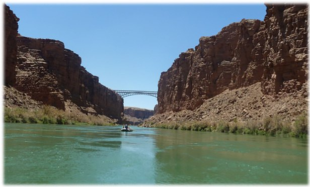 Sarah Krakoff, rafting in the Grand Canyon entering at Lee's Ferry into Marble Canyon. (Courtesy of Sarah Krakoff)