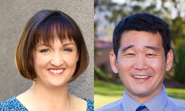 David Min, left, and Katherine Porter, right.