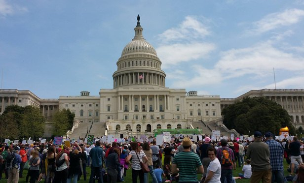 Tax March outside the U.S. Capitol in Washington, D.C., on April 15. (Photo: Pam Stephens)
