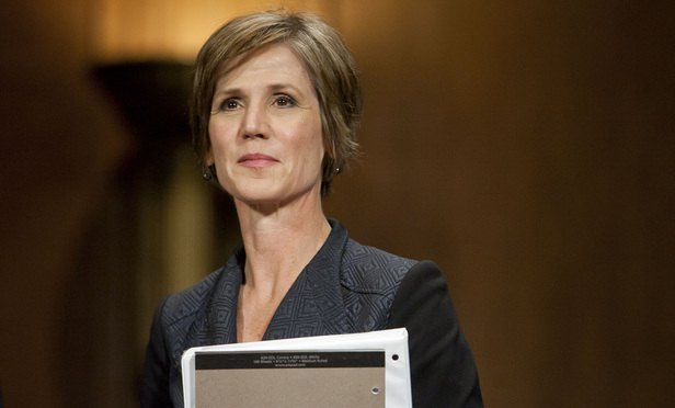 Sally Yates Finds Perch at Georgetown Law