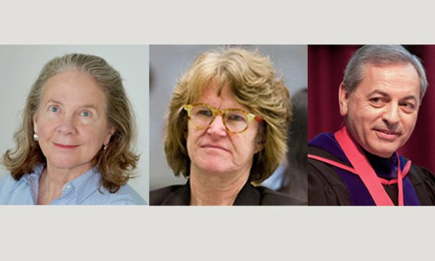L to R) Patricia H. White, Shelley Broderick and Don Guter. (Courtesy Photos)