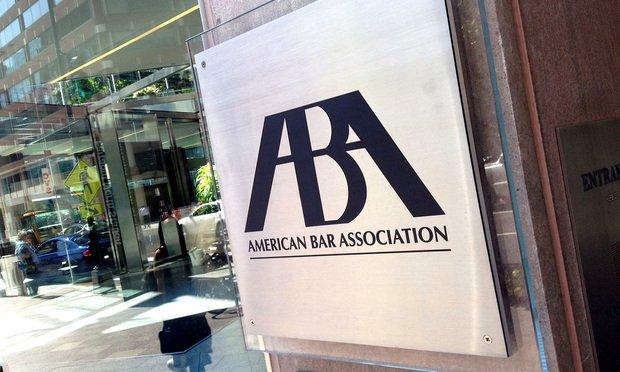 ABA sign.