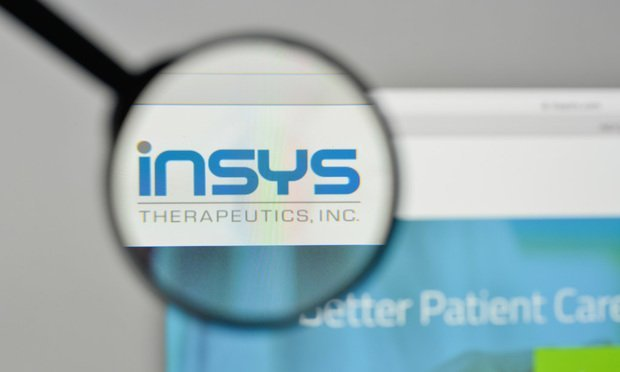 INSYS Therapeutics logo on the website homepage.