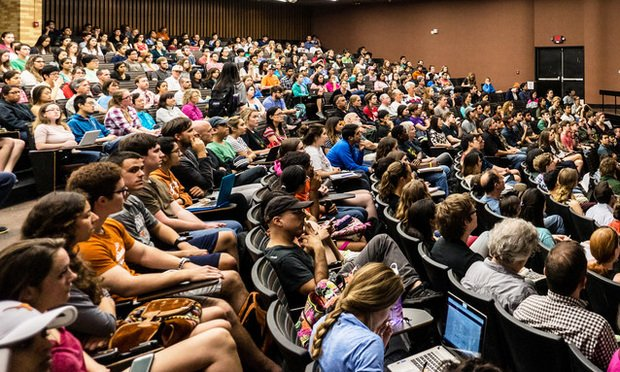 Crowded lecture hall