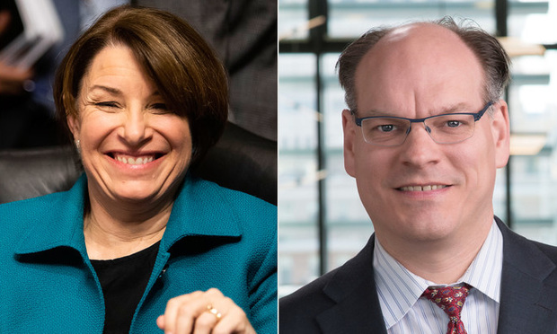 Amy Klobuchar and John Bessler.