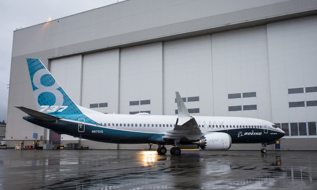 Boeing Co. 737 MAX airplane