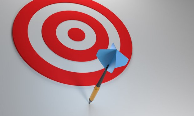 Dart with missed target.