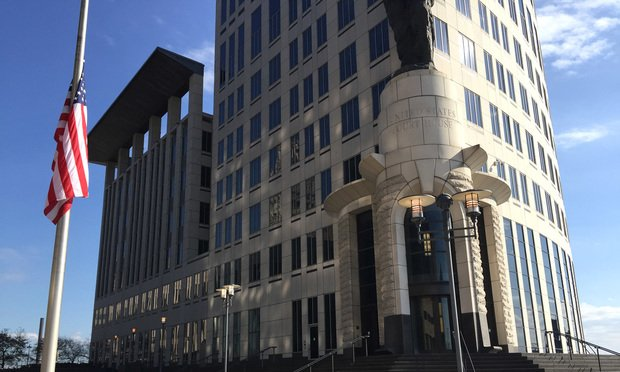 Carl B. Stokes Federal Court House Building in downtown Cleveland, Ohio.