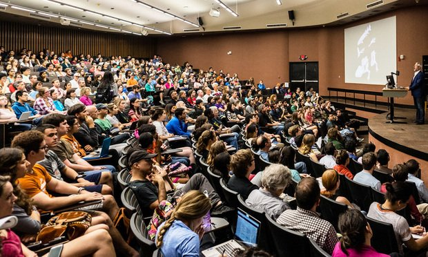 Students in a lecture hall