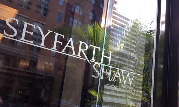 Seyfarth Shaw offices in Washington, D.C. September 15, 2016. Photo: Diego M. Radzinschi/ALM