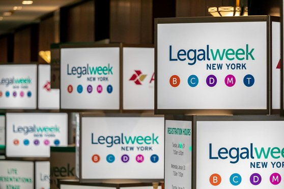 Legalweek signs