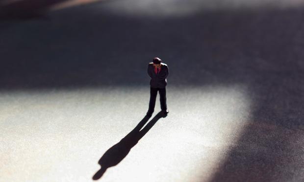 Man alone.