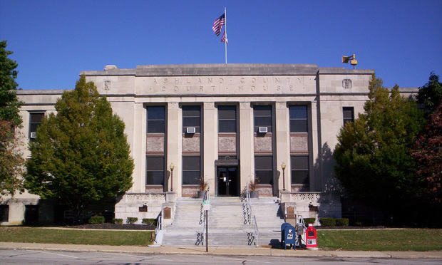 <i>Ashland County Courthouse in Ohio. Photo: Courtesy Photo</i>