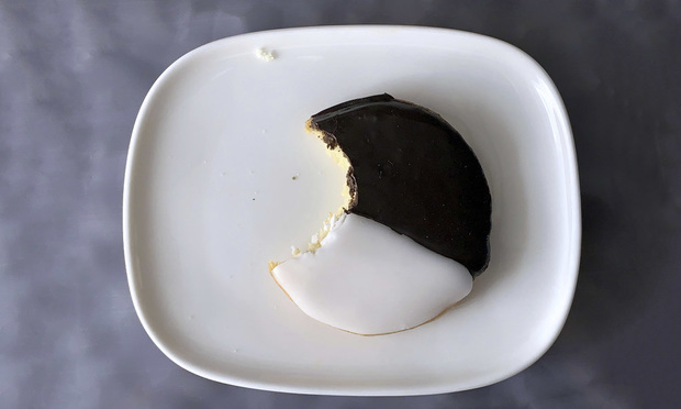 black and white cookie.