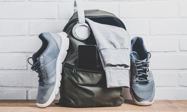 Sneakers and backpack