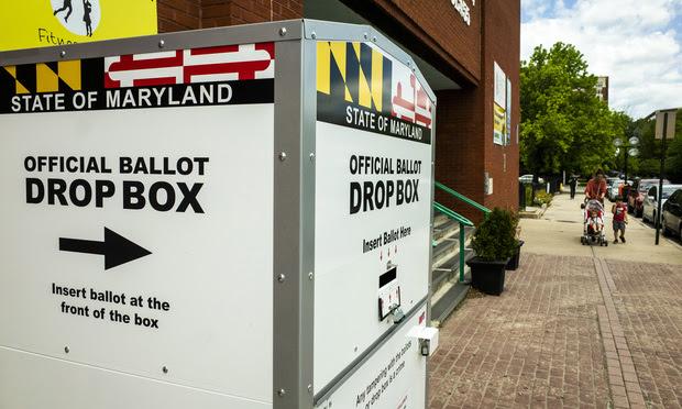 2020 presidential primary election ballot drop box