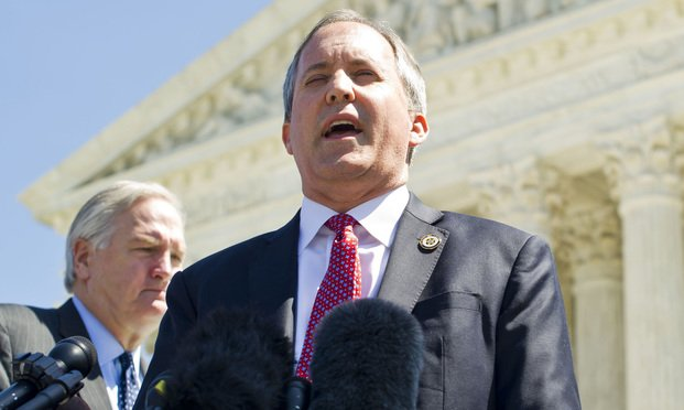 Texas Attorney General Ken Paxton. Photo: Diego M. Radzinschi/ALM