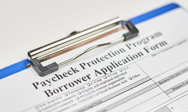 Paycheck Protection Program application. Credit: G.Tbov/Shutterstock.com