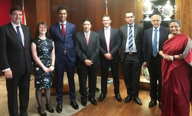 Photo credits from left to right: Edward Braham, senior partner, Freshfields; Katie STenstrom, trainee solicitor, Freshfields; Shivagar Siva, associate, Freshfields; Keki Mistry, vice chairman & chief executive, HDFC; Nick Hayday, counsel, Freshfields; Thomas Capon, associate, Freshfields; Pratap Amin, partner, Freshfields; and Renu Karnad, managing director, HDFC.