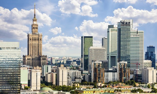 Warsaw Poland downtown skyline