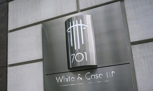 White & Case sign