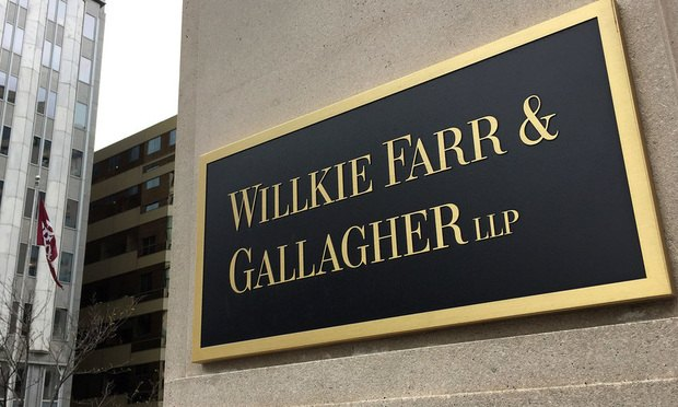 Willkie Faar & Gallagher sign