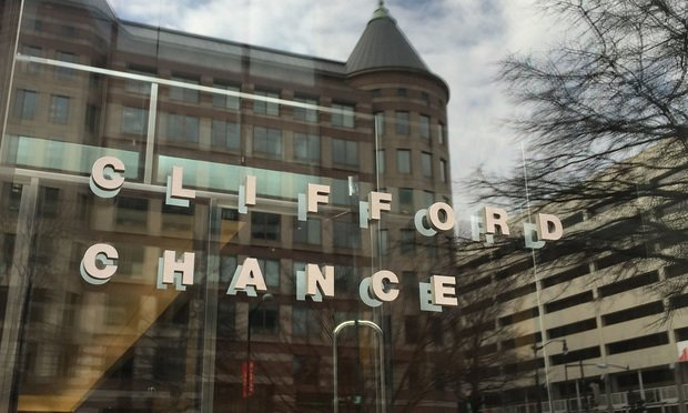 Clifford Chance offices sign