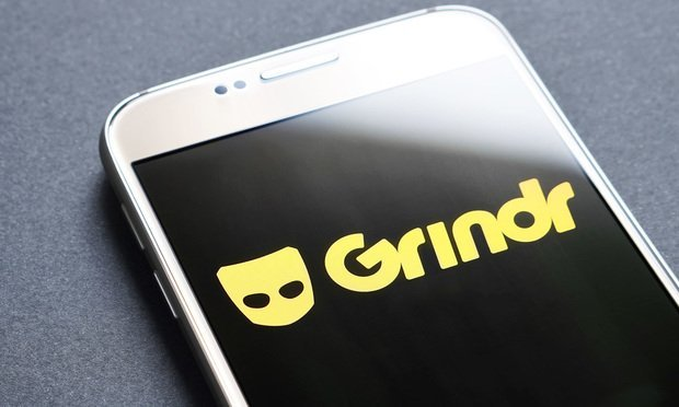 The gay online dating app Grindr