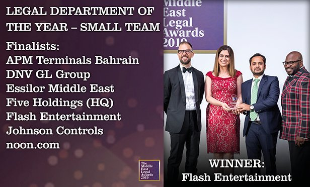 The Middle East Legal Awards 2019 Who Won What And Why Law Com International