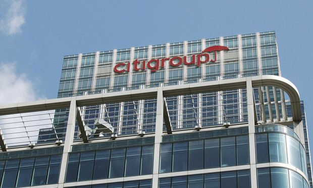 Citigroup sign