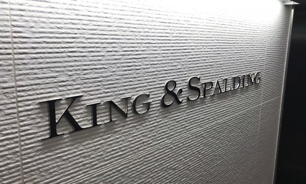 King & Spalding sign
