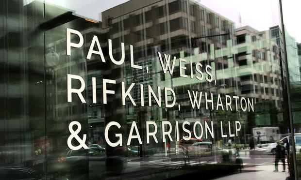 Paul, Weiss, Rifkind, Wharton & Garrison sign