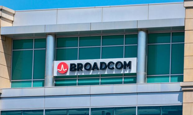 Broadcom signage