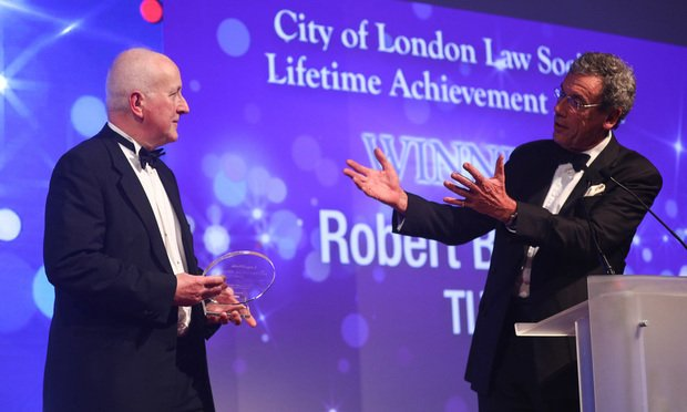 Robert Bourns, TLT, and BLA judge Edward Sparrow, City of London Law Society