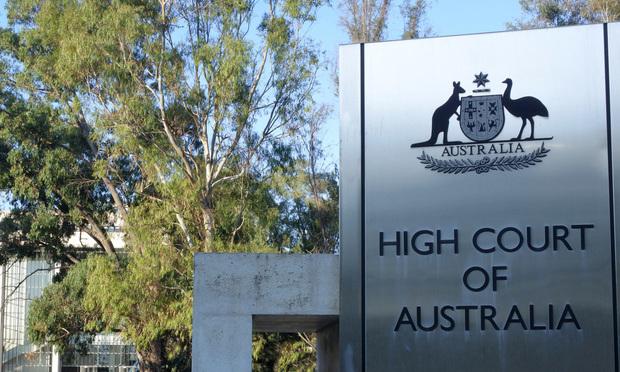 High Court of Australia signage