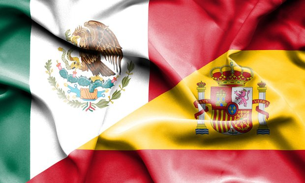 Spanish and Mexican flags
