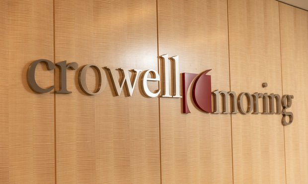 Crowell & Moring sign