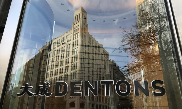 Dentons signage